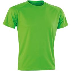Textiel Heren T-shirts korte mouwen Spiro SR287 Lime Punch