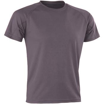 Textiel Heren T-shirts korte mouwen Spiro SR287 Grijs