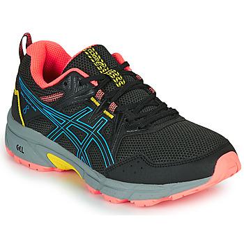Schoenen Dames Running / trail Asics VENTURE 8 Zwart / Blauw