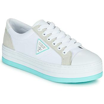 Schoenen Dames Lage sneakers Guess BRODEY Wit / Blauw