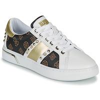 Schoenen Dames Lage sneakers Guess RICENA Wit / Bruin