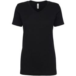 Textiel Dames T-shirts korte mouwen Next Level NX1540 Zwart