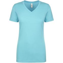 Textiel Dames T-shirts korte mouwen Next Level NX1540 Tahiti Blauw