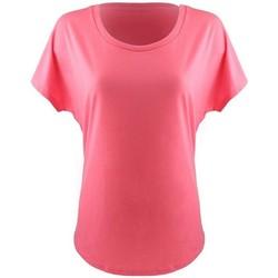 Textiel Dames T-shirts korte mouwen Next Level NX1560 Heet Roze