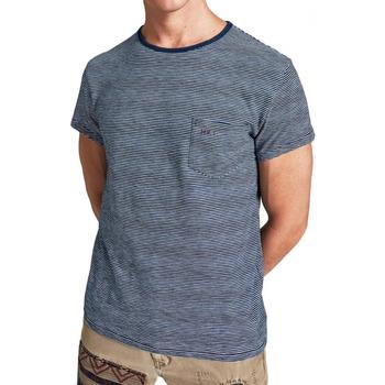 Textiel Heren T-shirts korte mouwen Hackett  Blauw