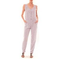 Textiel Dames Jumpsuites / Tuinbroeken Dress Code Combinaison Z073  Beige Beige