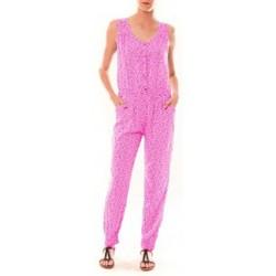 Textiel Dames Jumpsuites / Tuinbroeken Dress Code Combinaison Z073  Rose Roze