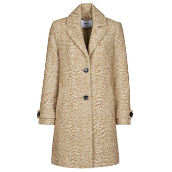 Textiel Dames Mantel jassen Only ONLPENNY Camel / Wit