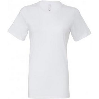 Textiel Dames T-shirts korte mouwen Bella + Canvas BL6400 Wit