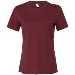 Textiel Dames T-shirts korte mouwen Bella + Canvas BL6400 Marron