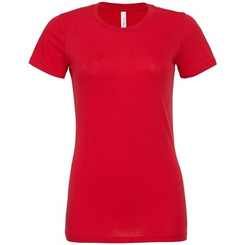 Textiel Dames T-shirts korte mouwen Bella + Canvas BL6400 Rood