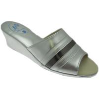 Schoenen Dames Leren slippers Milly MILLY1706arg grigio