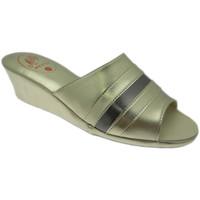 Schoenen Dames Leren slippers Milly MILLY1706pla grigio
