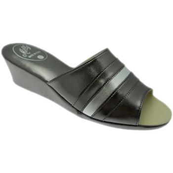 Schoenen Dames Leren slippers Milly MILLY1706pio grigio