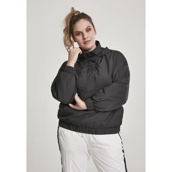 Textiel Dames Wind jackets Urban Classics Parka femme Urban Classic panel GT noir