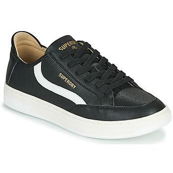 Schoenen Heren Lage sneakers Superdry BASKET LUX LOW TRAINER Zwart
