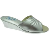 Schoenen Dames Leren slippers Milly MILLY1805arg grigio