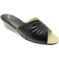 Schoenen Dames Leren slippers Milly MILLY1805blu blu
