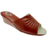 Schoenen Dames Leren slippers Milly MILLY1805ros rosso