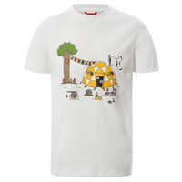 Textiel Jongens T-shirts korte mouwen The North Face GRAPHIC TEE Wit