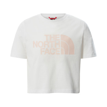 Textiel Meisjes T-shirts korte mouwen The North Face EASY CROPPED TEE Wit