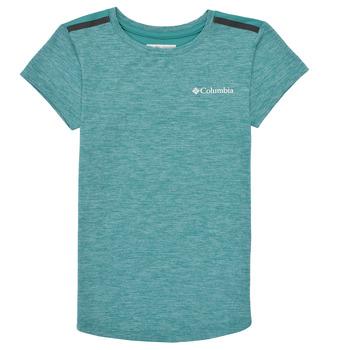Textiel Meisjes T-shirts korte mouwen Columbia TECH TREK Groen