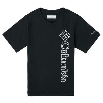 Textiel Jongens T-shirts korte mouwen Columbia HAPPY HILLS GRAPHIC Zwart