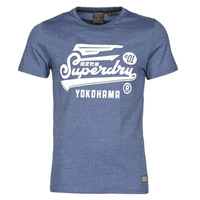 Textiel Heren T-shirts korte mouwen Superdry MILITARY GRAPHIC TEE 185 Blauw