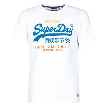 Textiel Heren T-shirts korte mouwen Superdry VL TRI TEE 220 Wit