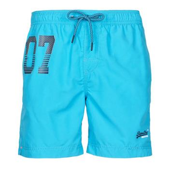 Textiel Heren Zwembroeken/ Zwemshorts Superdry WATERPOLO SWIM SHORT Blauw