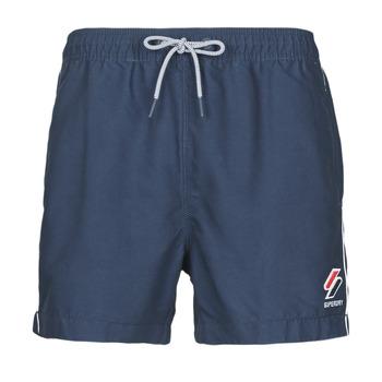 Textiel Heren Zwembroeken/ Zwemshorts Superdry TRI SERIES SWIM SHORT Blauw