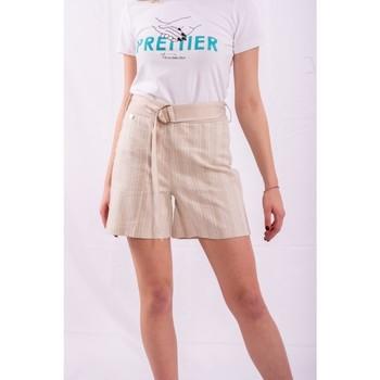 Textiel Dames Korte broeken / Bermuda's Fracomina FR20SM566 Kleurloos