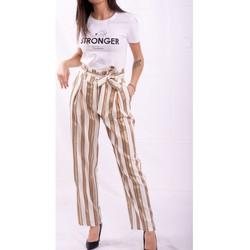 Textiel Dames Losse broeken / Harembroeken Fracomina FR20SP665 Kleurloos