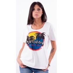 Textiel Dames T-shirts korte mouwen Persona By Marina Rinaldi VALUTA Wit