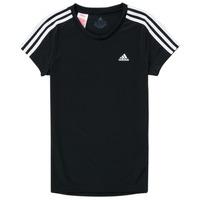 Textiel Meisjes T-shirts korte mouwen adidas Performance G 3S T Zwart