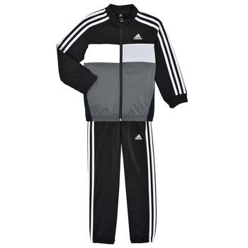 Textiel Jongens Trainingspakken adidas Performance B TIBERIO TS Zwart / Grijs
