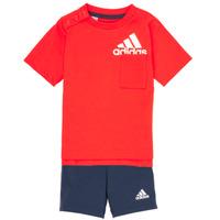 Textiel Jongens Setjes adidas Performance BOS SUM  SET Rood / Zwart