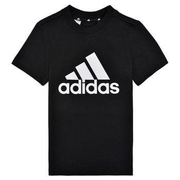 Textiel Jongens T-shirts korte mouwen adidas Performance B BL T Zwart