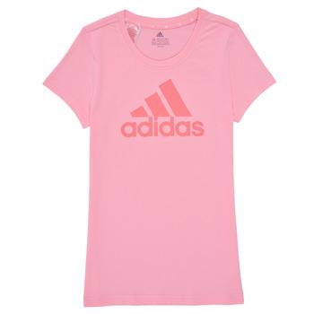 Textiel Meisjes T-shirts korte mouwen adidas Performance G BL T Roze