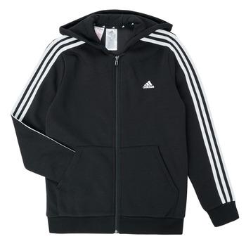 Textiel Jongens Sweaters / Sweatshirts adidas Performance B 3S FZ HD Zwart