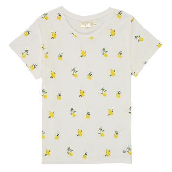Textiel Meisjes T-shirts korte mouwen Deeluxe NADY Wit
