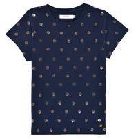 Textiel Meisjes T-shirts korte mouwen Deeluxe MAYA Marine
