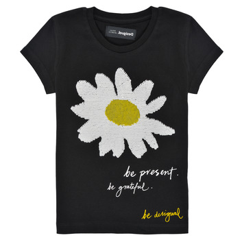 Textiel Meisjes T-shirts korte mouwen Desigual 21SGTK28-2000 Zwart