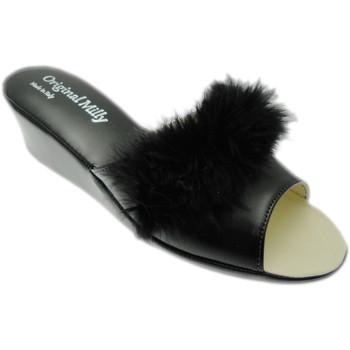 Schoenen Dames Leren slippers Milly MILLY102ne nero