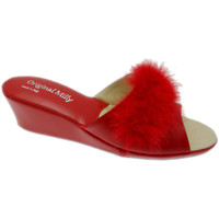 Schoenen Dames Leren slippers Milly MILLY102ros rosso