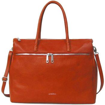 Tassen Dames Handtassen kort hengsel Gigi Fratelli Leren Laptoptas 17 inch Romance Business ROM8007 Oranje