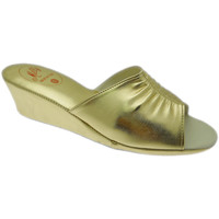 Schoenen Dames Leren slippers Milly MILLY1805oro blu