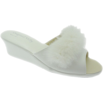 Schoenen Dames Leren slippers Milly MILLY102bia bianco