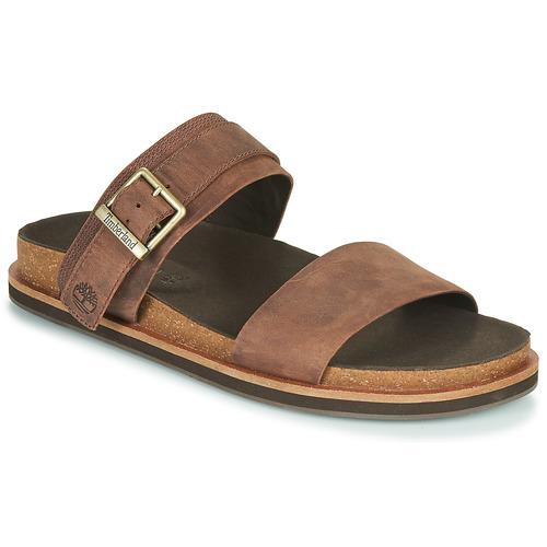 Schoenen Heren Leren slippers Timberland AMALFI VIBES 2BAND SANDAL Bruin