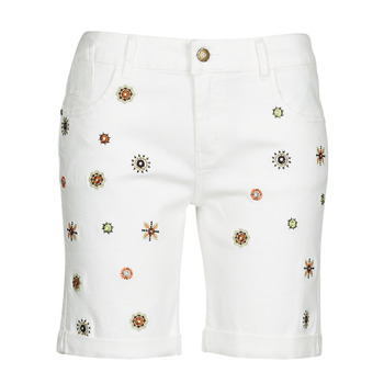 Textiel Dames Korte broeken / Bermuda's Desigual GRECIA Wit